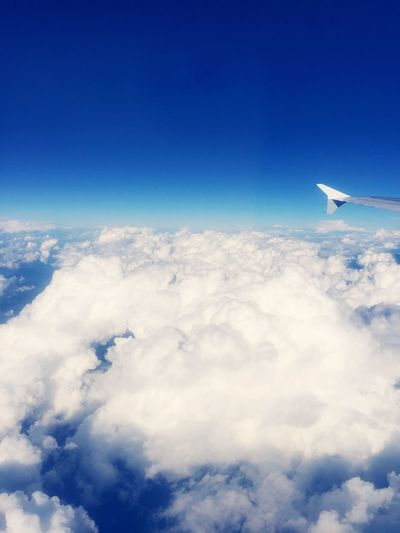 From An Airplane Window Heaven Clouds And Sky Blue Sky Heaven Is Near