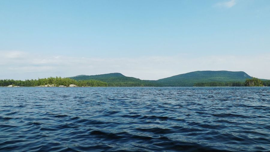 Maine Mainewilderness OnTheWater Beautiful Nature Choppy Waters Mountains Pond Serene Pond Life Fresh Water
