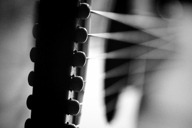 Parts of the guitar - Bridge 🎸 Guitar Bridge Guitar Parts Guitar Guitars No People Close-up Day Chain Focus On Foreground Indoors  Pattern Metal Connection Shadow Equipment