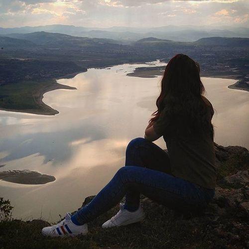 Bulgaria Lake Girl BG Sunset