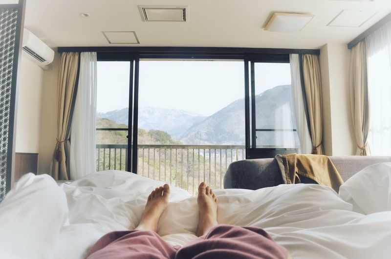 EyeEmNewHere Perspectives On Nature Hakone Hakone Japan Japan Japan Photography Japanese  Japanese Style Bedroom Bedroom Window Bedtime Bed Peaceful Tranquility Rest Calm Beautiful Window View Tokyo Hotel Onsen Be. Ready. EyeEmNewHere Fresh On Market 2017