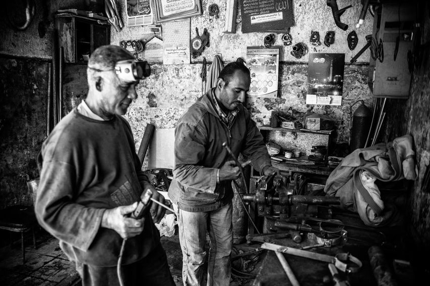 Business Stories Two People Only Men Mature Adult Mature Men Real People Indoors  Men Working Manual Worker People Maintenance Engineer Repair Shop Mechanic
