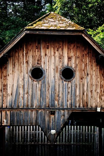 Architectural Detail Being Silly Built Structure Check This Out Eyes On YOU!! Eyes Watching You Façade From My Point Of View Getting Creative Ghost House Hello World House Lookslike Suggestions Switzerland Traveling Well Turned Out Wood - Material Wooden