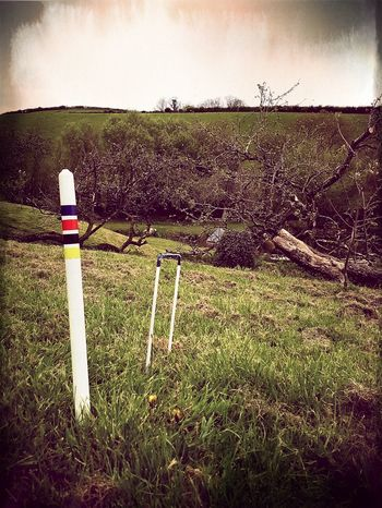 Outdoors Day Grass Nature Sky No People Games Croquet In The Middle Of Nowhere English Countryside