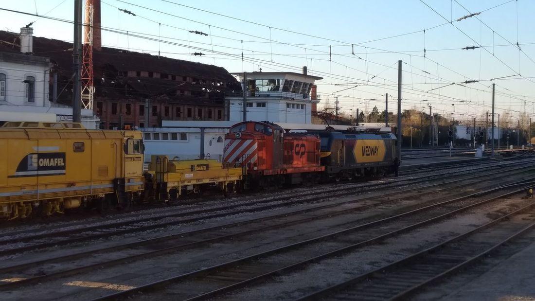 Railroad Track Public Transportation Train - Vehicle Rail Transportation Railroad Station Locomotive Sky