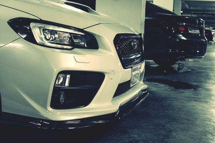Sujin CF front lip installed! Car Transportation Close-up Technology Indoors  Speedometer Lights Amwajislands Bahrain 2016 Subaru
