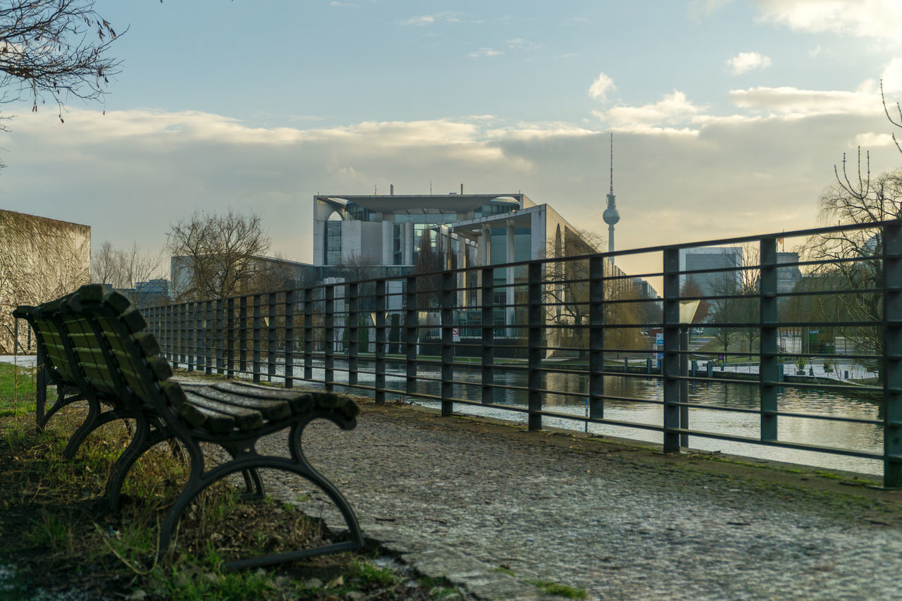 architecture, built structure, building exterior, sky, railing, cloud - sky, no people, outdoors, day, nature