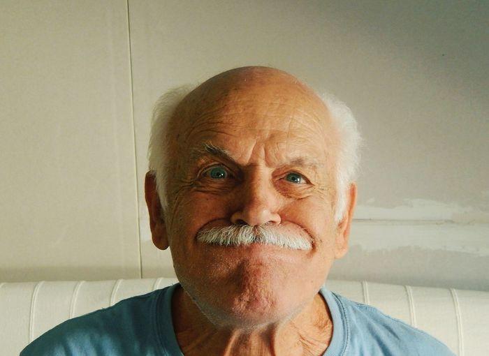 Portrait Of Senior Man At Home