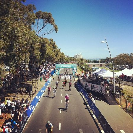 The finish line! Cycletour Capeargus Capetown Cycle southafrica