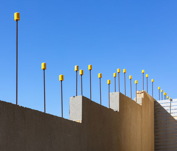 Blue Built Structure Clear Sky Day No People Sky Sunlight Wall - Building Feature Yellow