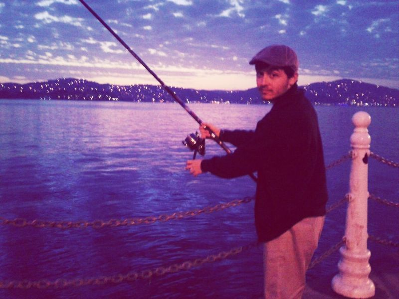 Sahil Fishing Fisherman Twilight