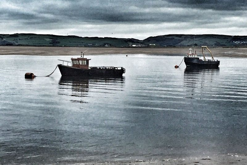 Aberdyfi beach Nautical Vessel Water Tranquil Scene Outdoors Scenics Tranquility Sea Fishing Boat No People Wales