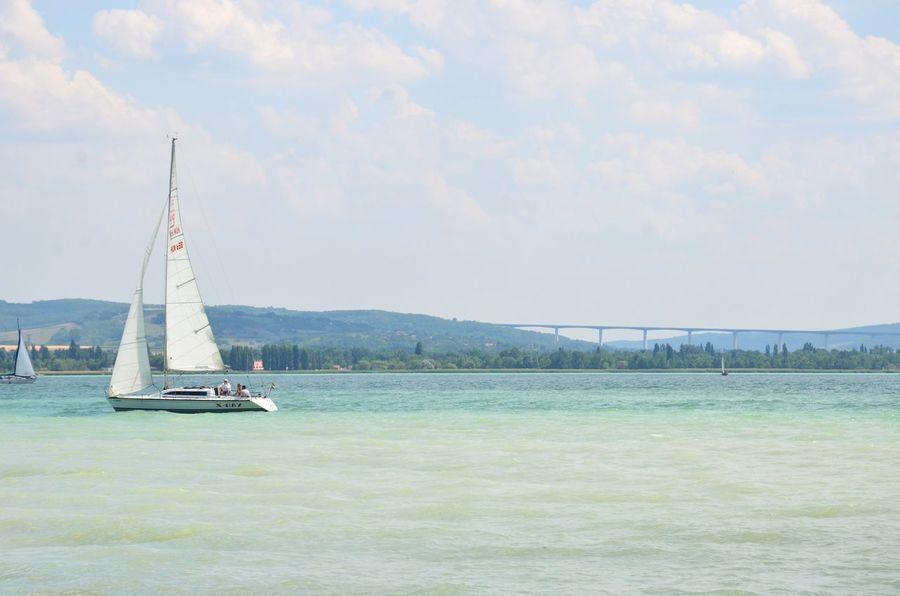 Sailboat Sailing Water Sky Balaton Hungary Summer Tihany Lake Landscape No People Sunshine Outdoors