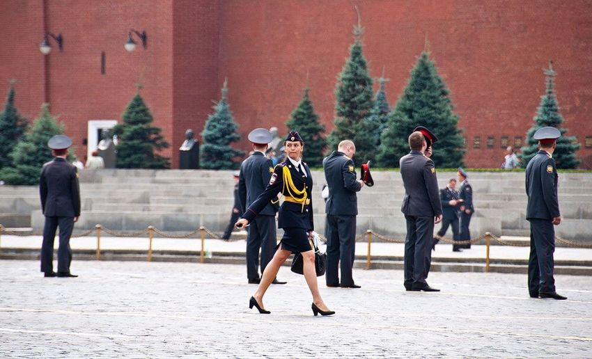 Russia Moscow, Москва Red Square Kremlin Uniform Woman In Uniform Street Photographer-2016 Eyem Awards
