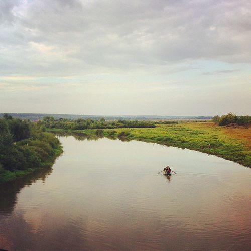 утро река Природа лодка Morning River Nature Water Boat