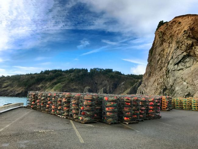 Sky Outdoors Day Large Group Of Objects The Way Forward No People Nature Mountain Ocean Photography Crab Cages Crabbing Marine Marine Photography Oregon Oregon Coast Southern Oregon Fishing