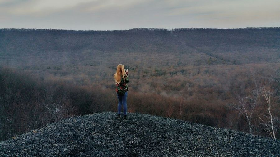 Roaring Spring overlook. Outdoors Nature Weiser State Forest Travel Adventure Roaring Creek Trail
