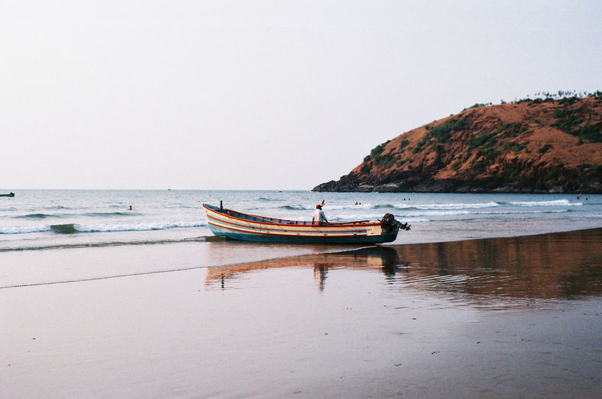 Fishing Boat in Gokarna, India. India Nikon Fm2 Filmisnotdead Beach Open Edit The Traveler - 2015 EyeEm Awards