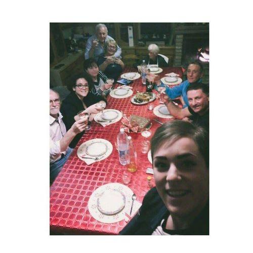 •altro che il selfie degli Oscar• Merry Christmas Natale2015 La Familia <3 Qua Se Magna Pieni E Felici - ILoveYou.♡ In Alto I Calici Prosit Olè Enjoying Life