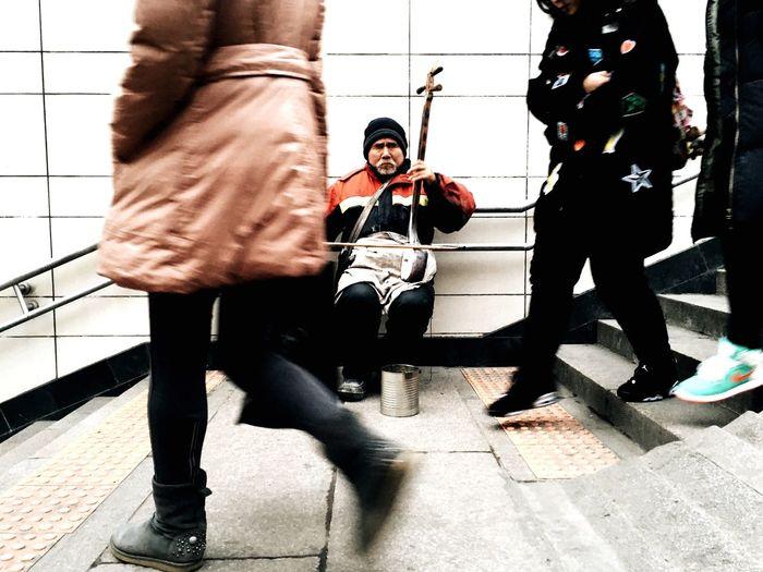 Subway Subway Station Showcase: January Streetphotography Street City Urban Beijing China Life Busker Music