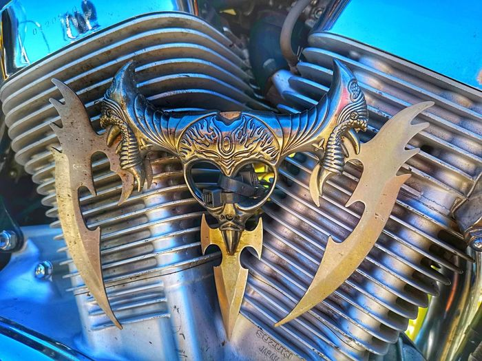 Harley Davidson Art And Craft Close-up Sky