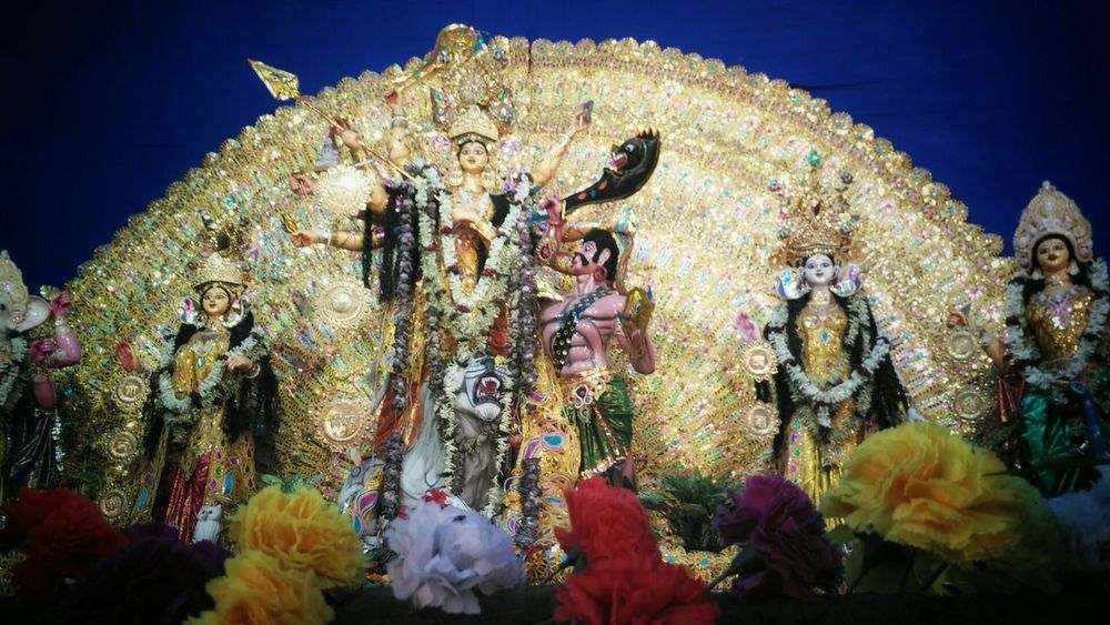 ~Sacred~ Low Angle View History Goddess DurgaPuja2015 Durga Durgapur Pandals
