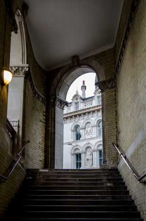 Arch Arched Architecture Archway Building Exterior Built Structure Entrance History Holborn Viaduct London Low Angle View No People Railing Staircase Stairs Stairway Steps Steps And Staircase Steps And Staircases The Way Forward