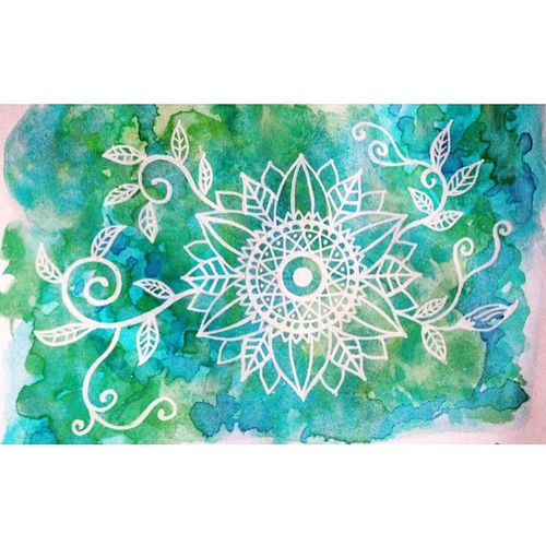 曼荼羅 マンダラ Mandala Mandalas Art Drawing YohkoAmaterraArt Pastel 水彩 Colors