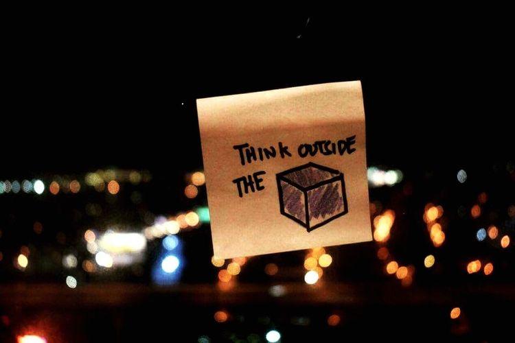 Think outside the box. Creative Urban Shots Creative Shots Think Outside The Box