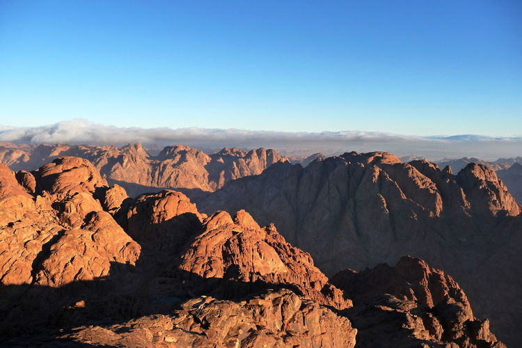 After Sunrise Beauty In Nature Gebel Musa Geology Holy Mountain Morning Mountain Range Mountains Mountains And Sky Nature No People Outdoors Physical Geography Scenics Sinai Sinai Egypt Miles Away Premium Collection The Eyeem Collection At Getty Images Lost In The Landscape
