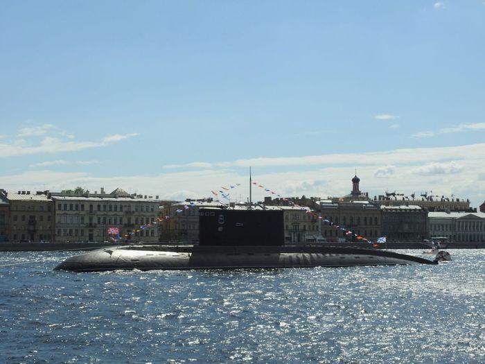 Submarine Military Day Of Navy Navy EyeEmNewHere EyeEm Selects Neva River Russian Navy Sank-Peterburg Russia Sunny Day 🌞