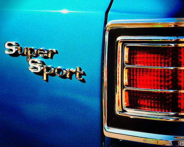 Automobile Badge Blue Car Chevrolet Chevy Close-up Low Angle View No People Super Sport