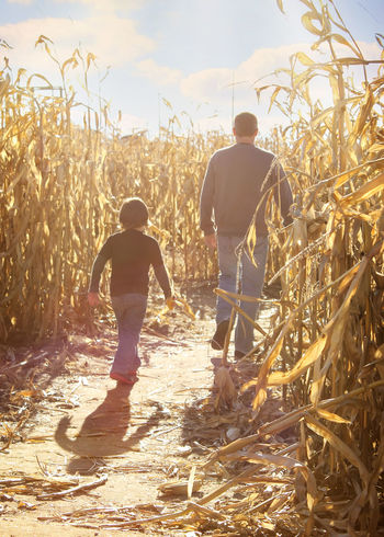 Blind Faith Capture The Moment Childhood Corn Maze Fall Father & Son Getting Lost