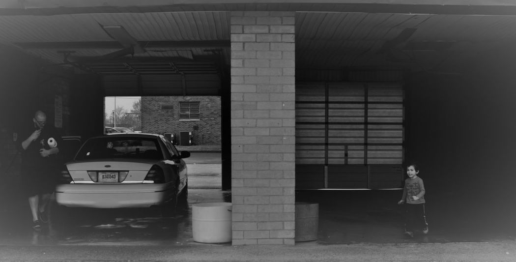 Black And White Car Car Wash Family Father And Son MidWest Ohio Responsibilities Square