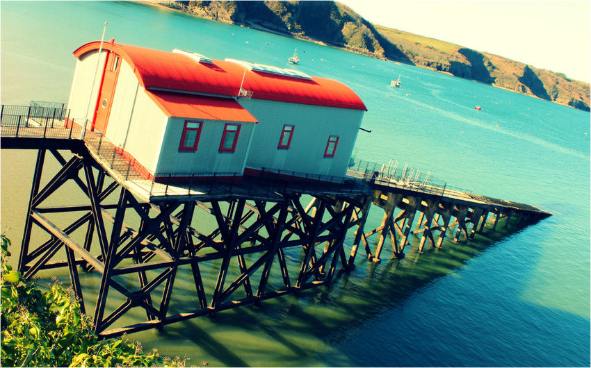 Tenby old lifeboat station Building Lifeboat Launch Lifeboat RNLI Old Lifeboat Station Sea Seaside Tenby