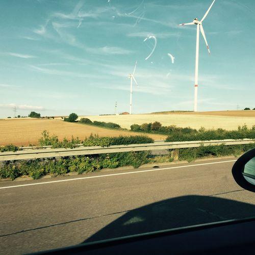 Windmills Ontheroad Drivingshots Germany