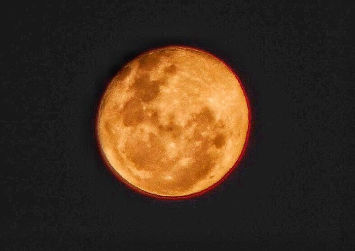 Moon Collection August 2016 When The Moon Looks Like A Peach Nighttime Photography Spain♥