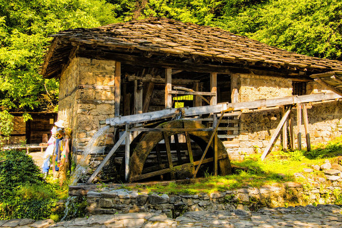 Old Stone mill Gabrovo ,Bulgaria Craft Etar Old Hause Stone Milling Stones Water