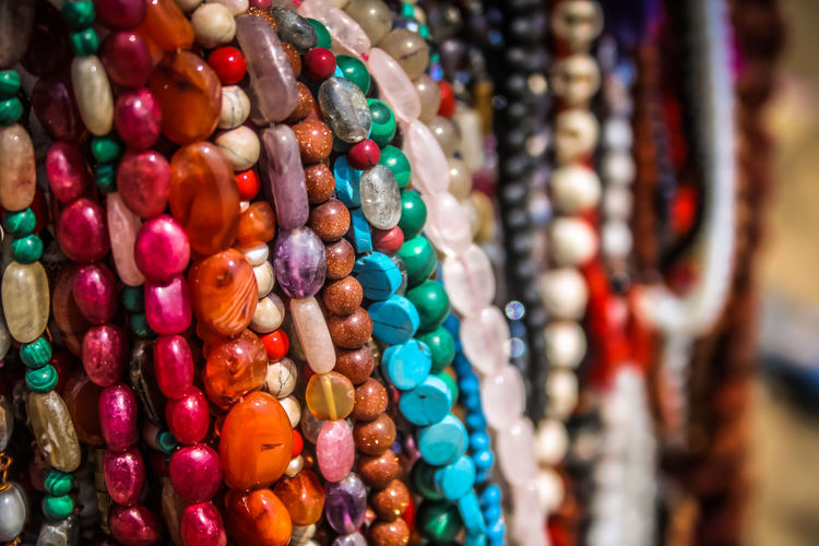 Close-Up Of Colorful Jewelry