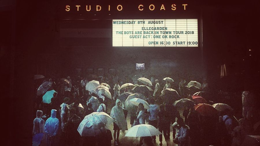 August 8,2018 rainyday Shinkibastudiocoast No.13 ELLEGARDEN Crowd Communication Group Of People Text Large Group Of People Western Script Event