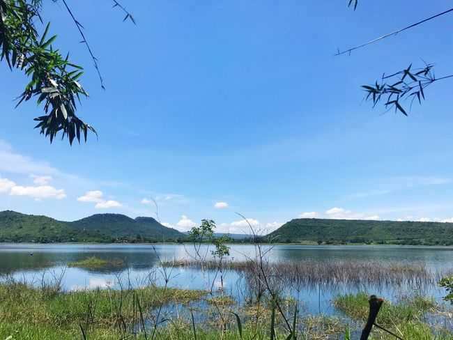 Sky Lake Water Nature Scenics Mountain Day Beauty In Nature Tree Tranquility Outdoors No People Grass Growth