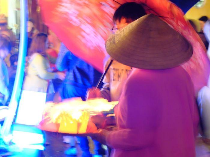 ASIA Chinese Hat Nightlife Streetlife Vietnam