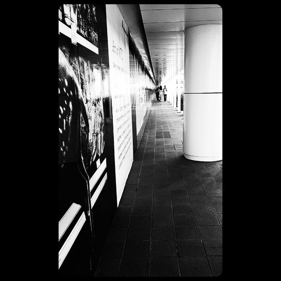 Black And White Long Hallway When Im Go To Workplace