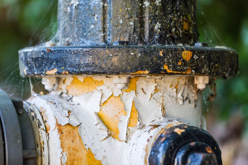 Fire Hydrant Cracked Paint Metal Rusty Close-up No People Weathered Day Outdoors Old Town Abandoned Robert DuVernet Photography