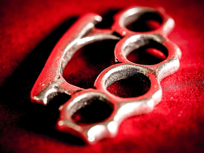Jeans Brown Photography - Olympus M.Zuiko Digital ED 60mm 1:2.8 Macro Brass Knuckles Close-up Indoors  Macro Macro Photography Macro_collection Macroclique Macrophotography No People Red Shiny