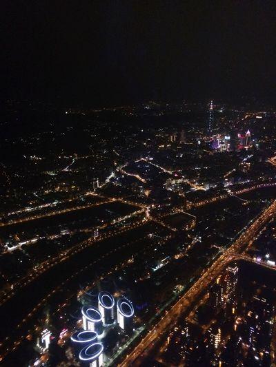 台北天空下的夜景
