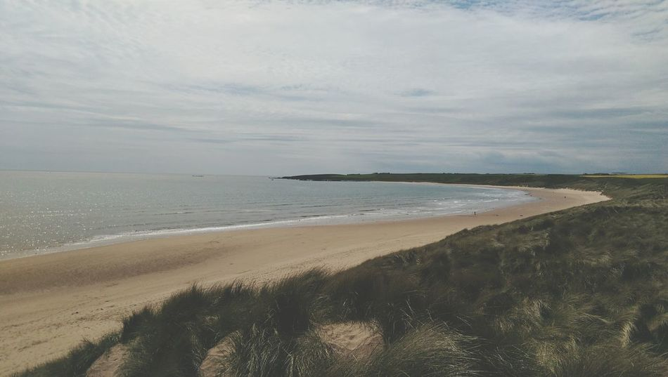 Cruden Bay beach Sea Beach Sand Horizon Over Water Outdoors No People Nature Day Cruden Bay Scotland Aberdeenshire Tranquility Coast Coastline North Sea North Sea Coast