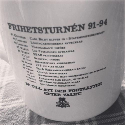 Frihetsturnén genomfördes, när Bildt var partiledare och Reinfeldt var ordförande i Muf . Sedan blev Reinfeldt partiledare... Detvarbättreförr