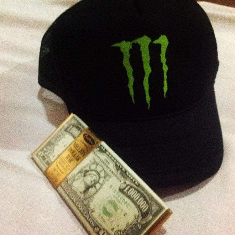 Hell yeah money Monster Energy Hat Monsterenergy money my mine chocolate love lovely cool instagram instamood