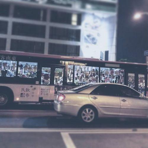 傳說中的「娃娃車」 Bus Car Muppets Doll Taiwan Taichung 客運 巴士 娃娃 公車 娃娃車